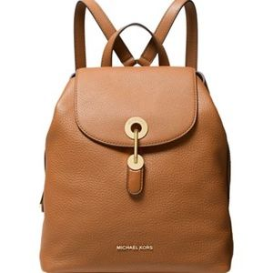 Michael Kors Raven Leather Backpack Acorn/Gold